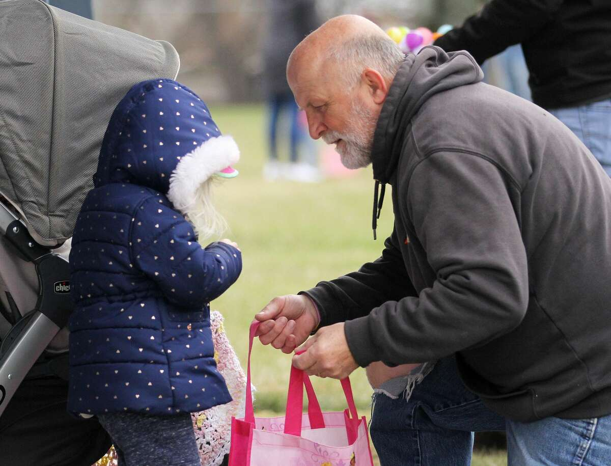 Kids in Kinde didn't let cool, windy weather keep them from hunting for Easter eggs and having a great time at Kinde Memorial Park on Saturday afternoon.