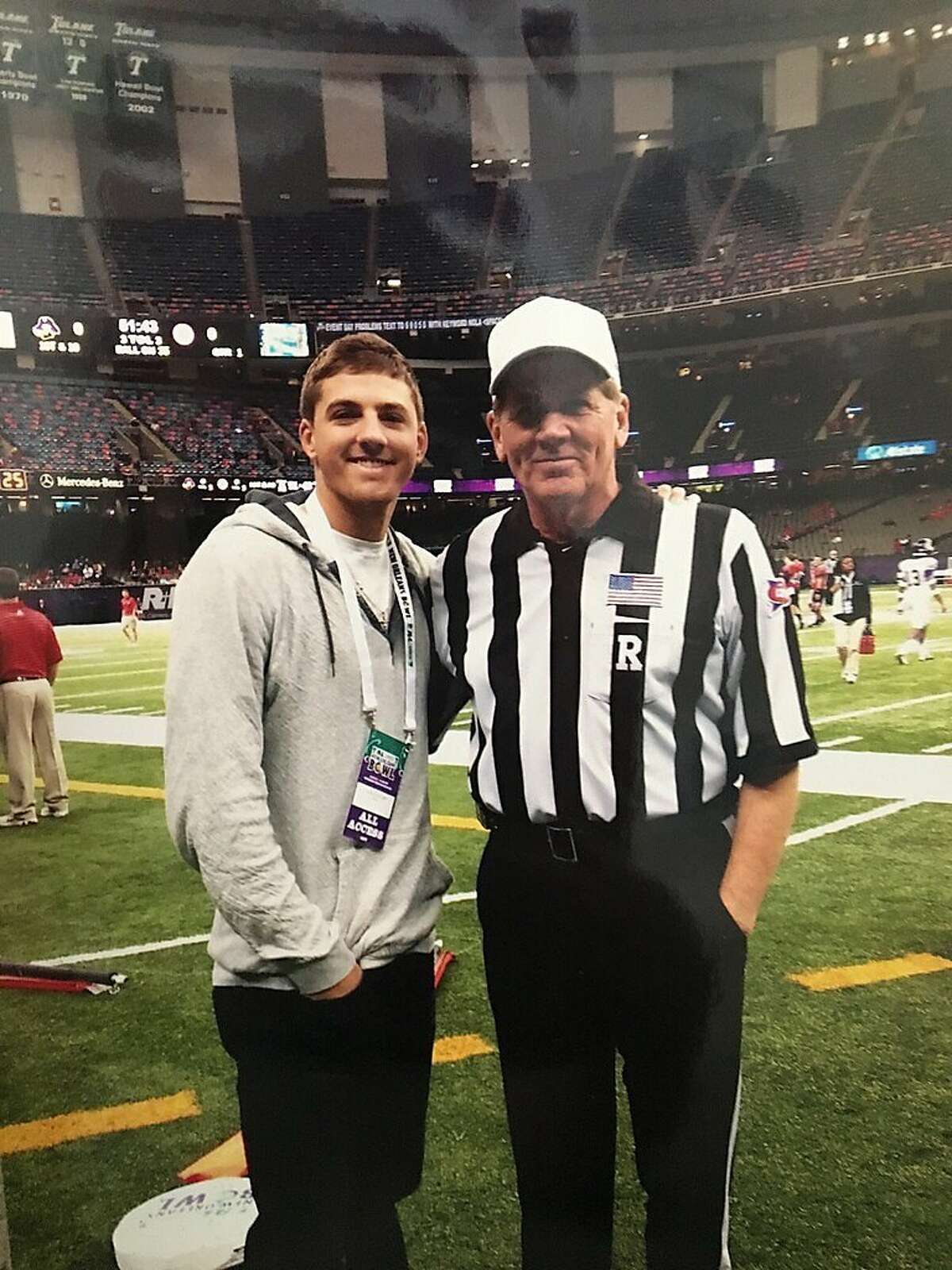 Giants starter Kevin Gausman got to see his dad, Clair, a college football replay official, this week in Seattle, the elder Gausman's first time seeing his son pitch for San Francisco in person.