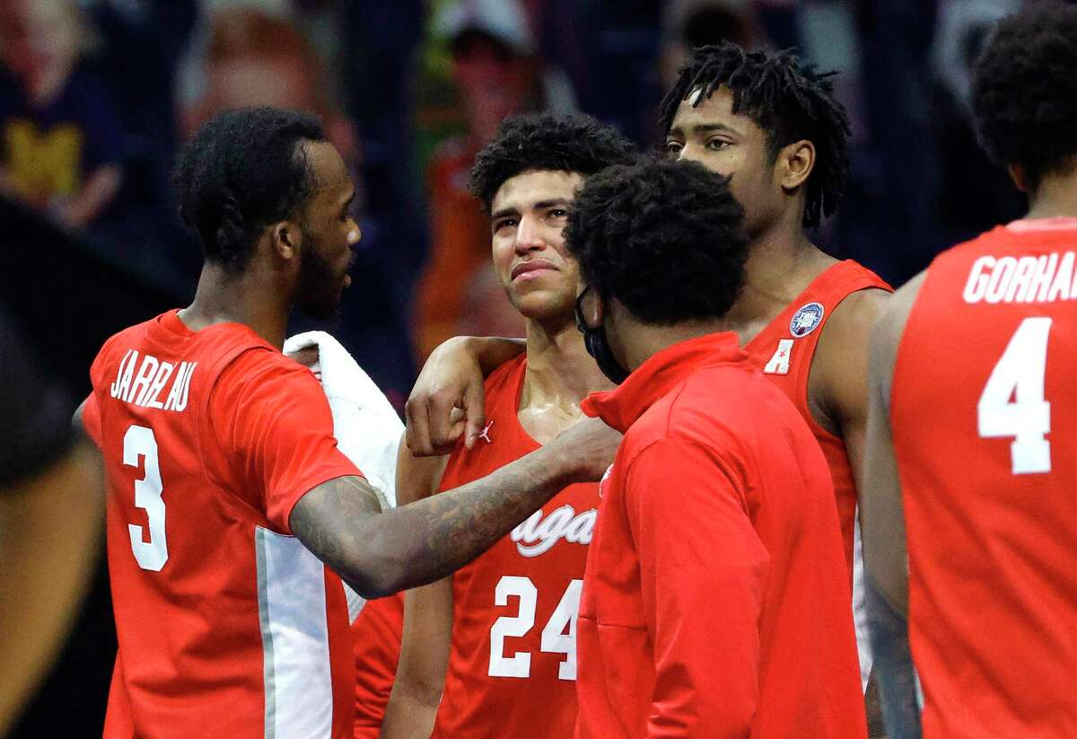Quentin Grimes (24) and the Cougars saw their dream season ended by Baylor in the NCAA semfinals on Saturday.