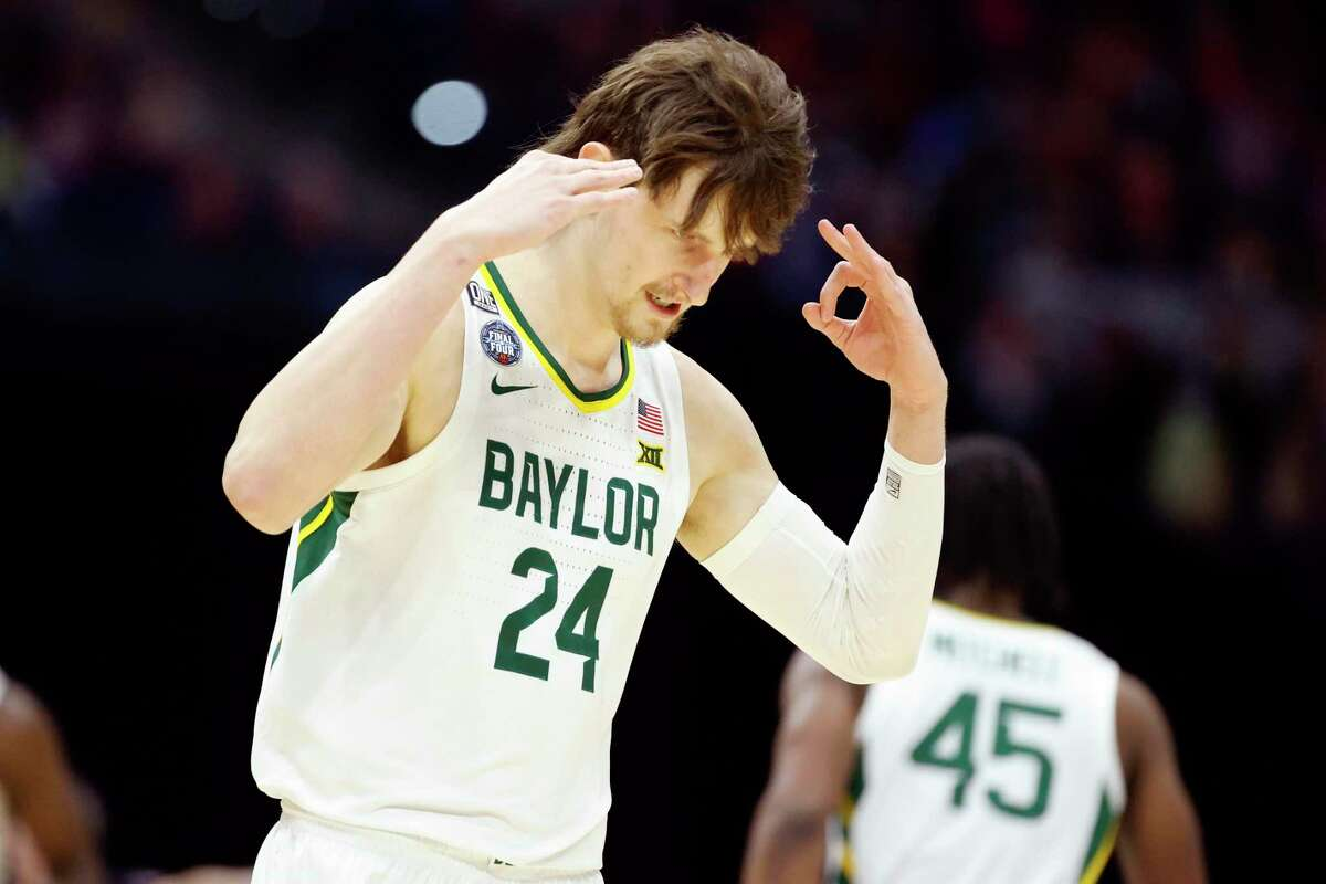 Matthew Mayer scored 12 points off the bench to help the Bears reach the NCAA title game where they will face Gonzaga.