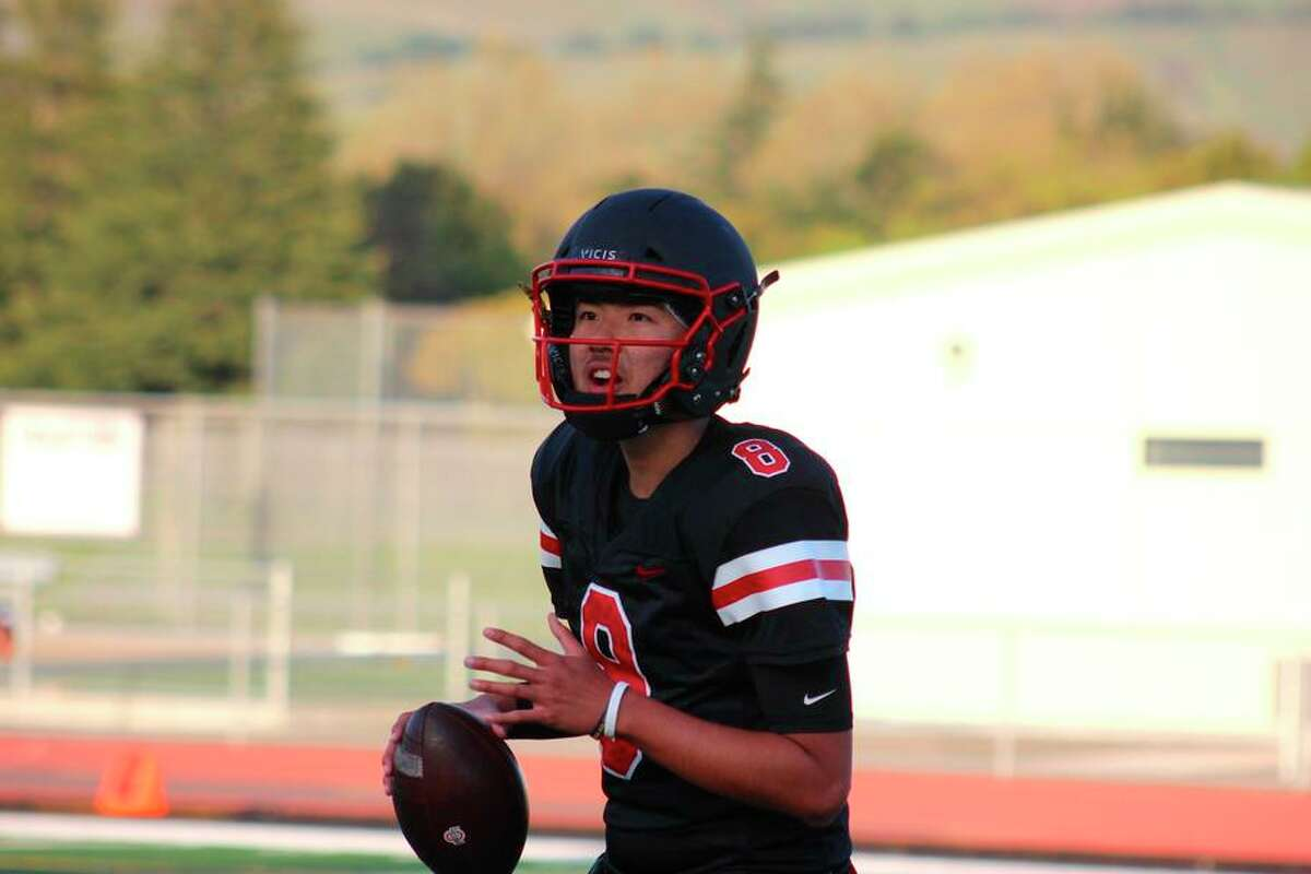 James Logan junior QB Marcus Sanders passed for 241 yards and four TDs in nine completions against Moreau Catholic.