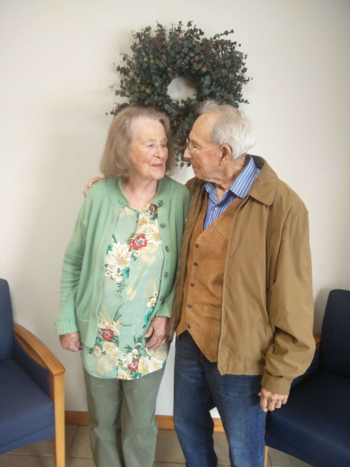 98-year-olds Ed and Eleanor Schlafley celebrated their 78th wedding anniversary in September 2020. The Manistee couple credit their successful marriage to faith in God.