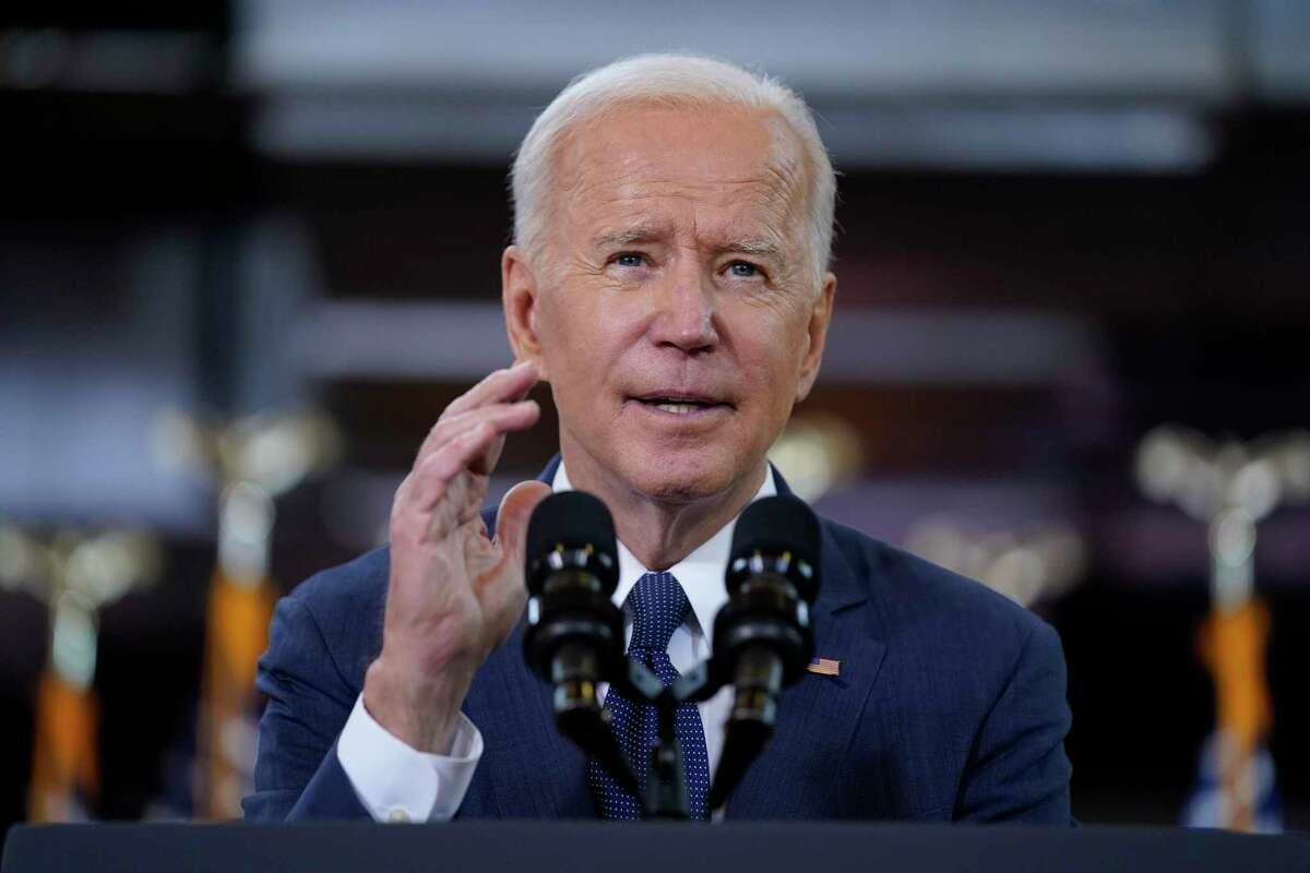 In this March 31 photo President Joe Biden delivers a speech in Pittsburgh on infrastructure spending.