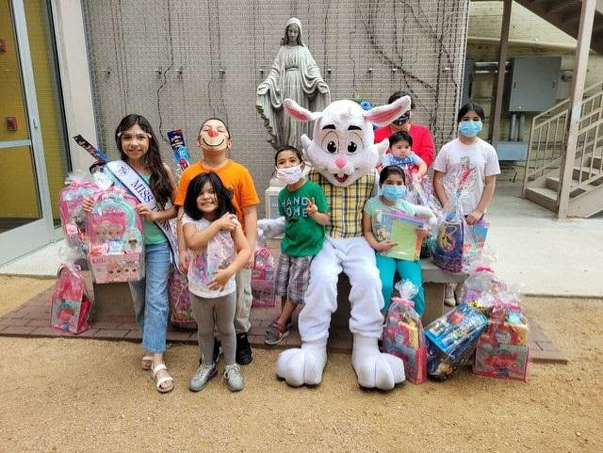 Bethany House of Laredo received an early visit from the Easter Bunny on Thursday as baskets were provided to 20 children.