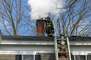 Fire departments responded to a chimney fire at a home on Pine Hill Road in New Hartford on April 4.