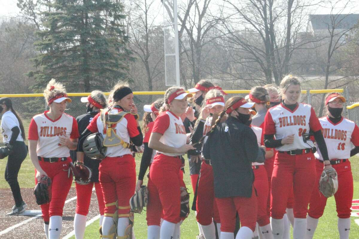 Ferris State gained its first softball GLIAC win of the season with a split against Wayne State on Saturday.