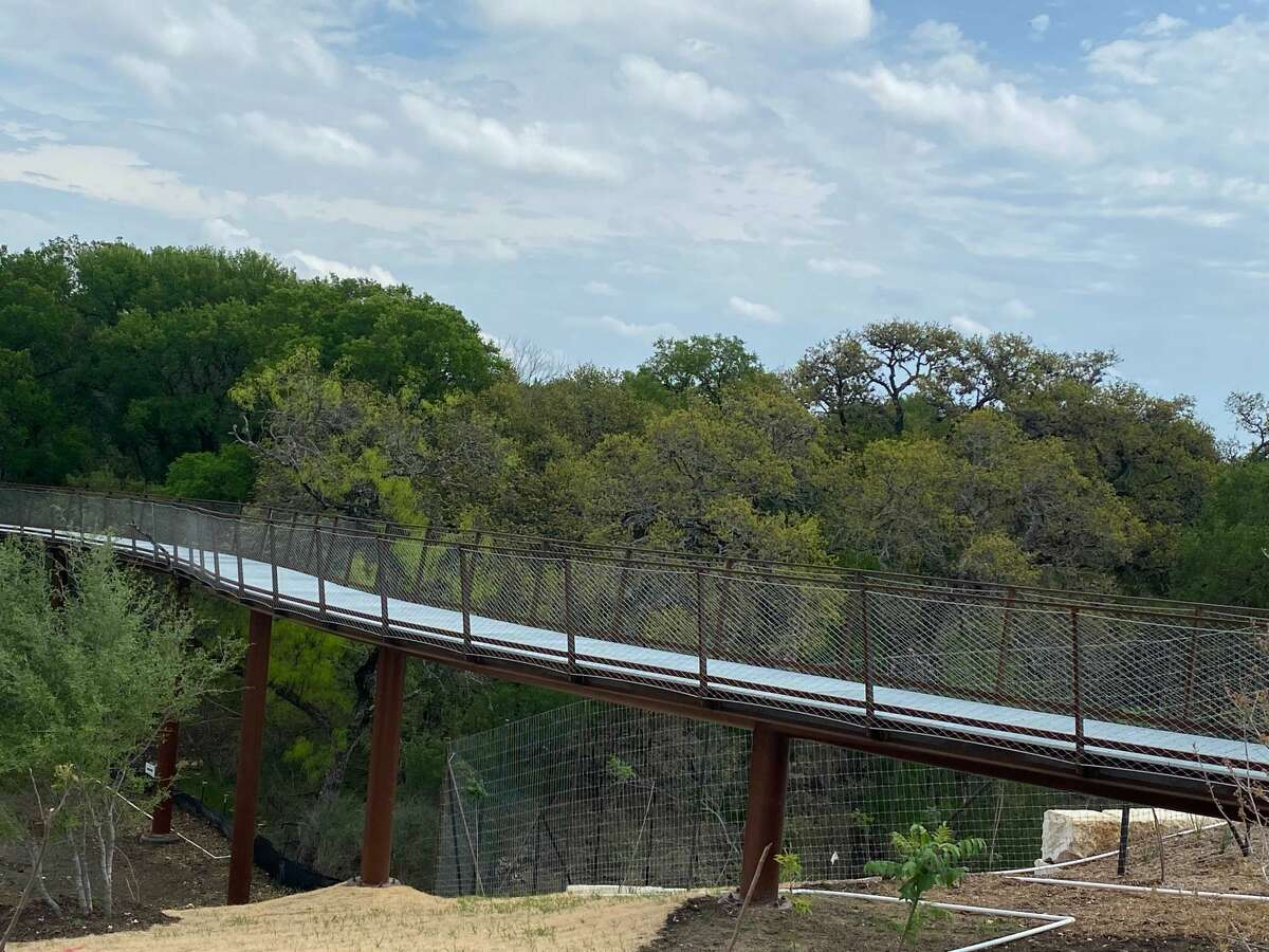 The highly anticipated skywalk portion of the Robert L.B. Tobin Land Bridge officially opens to the public Monday, April 5 at Phil Hardberger Park.