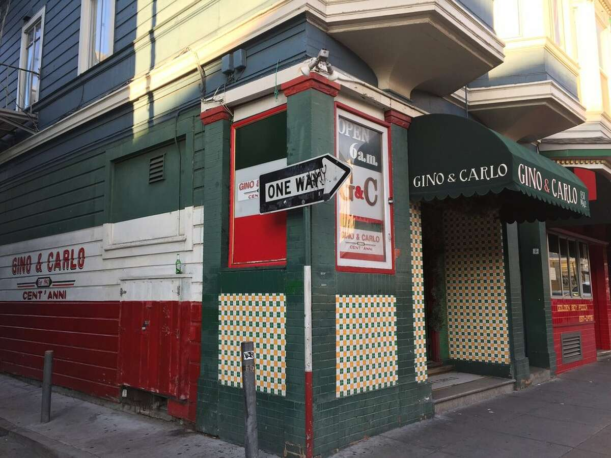 The front of Gino and Carlo in North Beach.