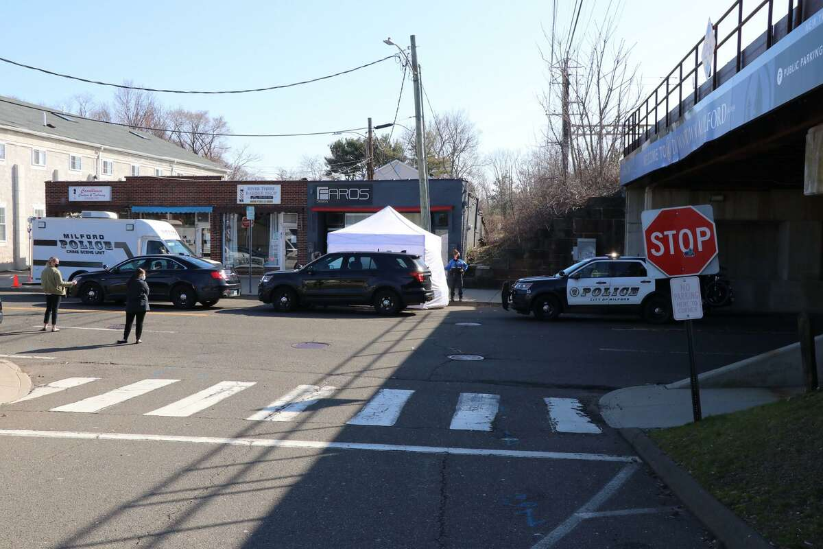 Police are on the scene of a suspected fatal drug overdose in the area of Daniel Street and River Street. The victim was found in a car that police have covered with a tent.