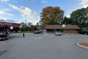 The gas station and convenience store at 1 Colchester Ave. in East Hampton.