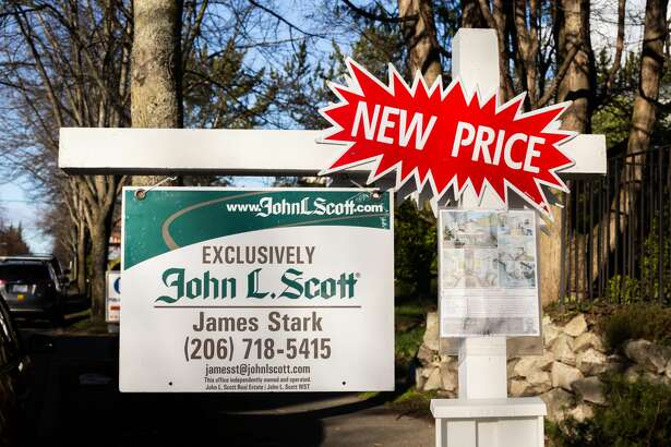 A real estate sign in Seattle.