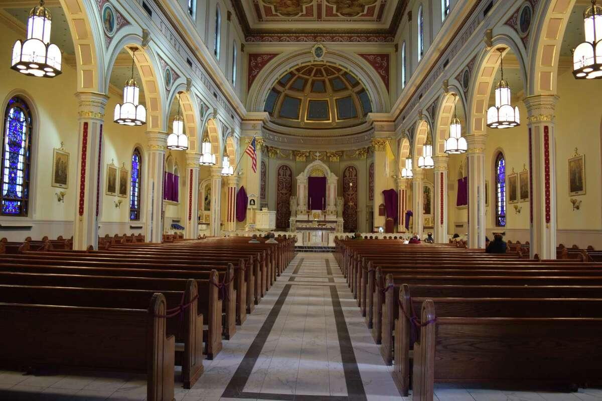 Inside St. Sebastian Roman Catholic Church in Middletown.
