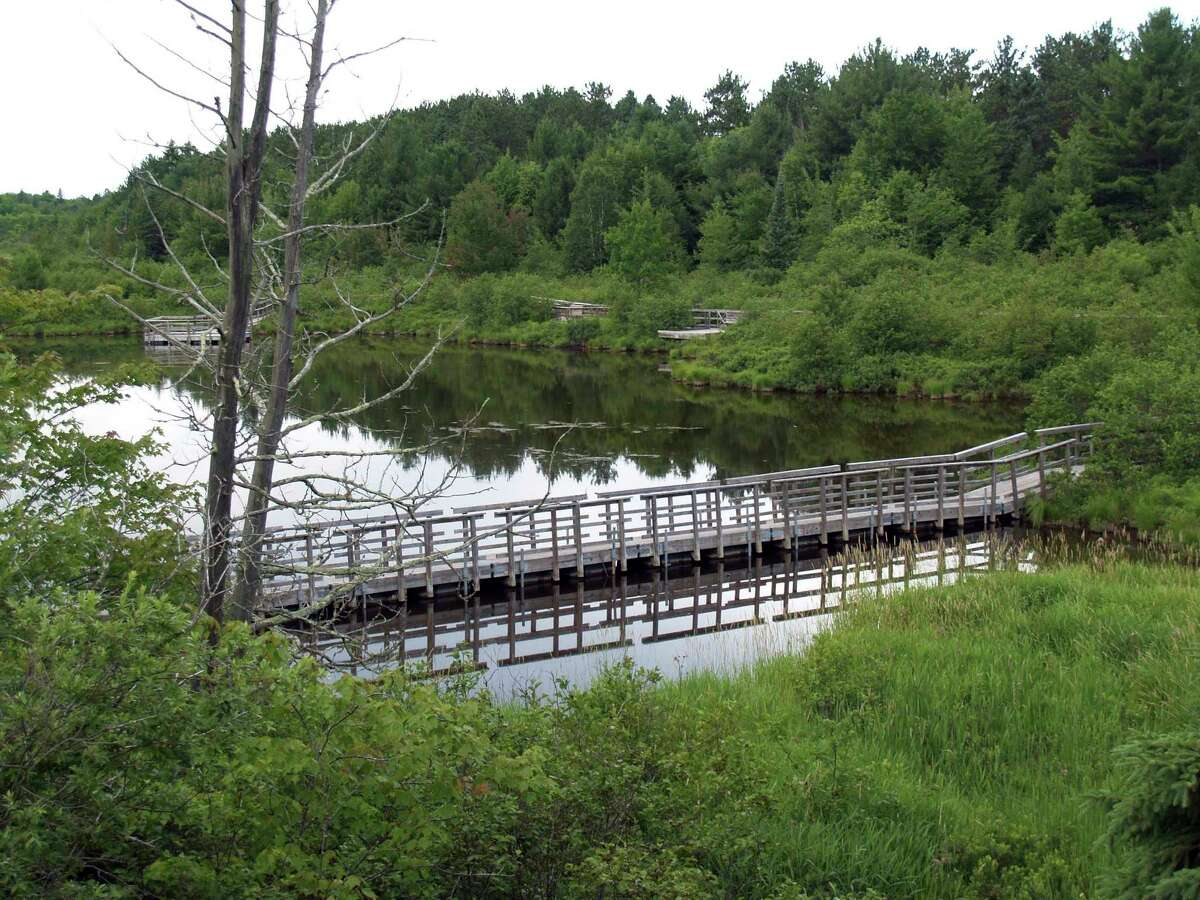 An accessible boardwalk allows visitors to enjoy a close-up experience with Cox Ponds in Wetmore in Alger County. (Courtesy photo/Michigan Department of Natural Resources)