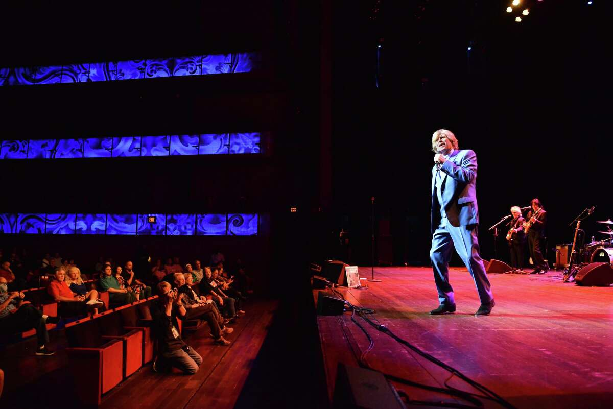 Peter Noone of Herman's Hermits performed before a socially distanced audience at the Tobin Center for the Performing Arts in September.