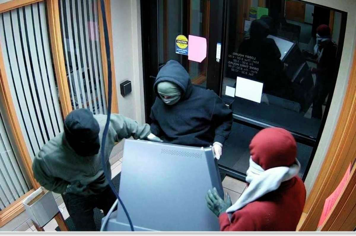 Police said the three suspects and the vehicle used in the attempted ATM theft in Wellstonlast year were identified and evidence was seized in Ingham Countyin May last year when a search warrant was executed. (Courtesy photo)