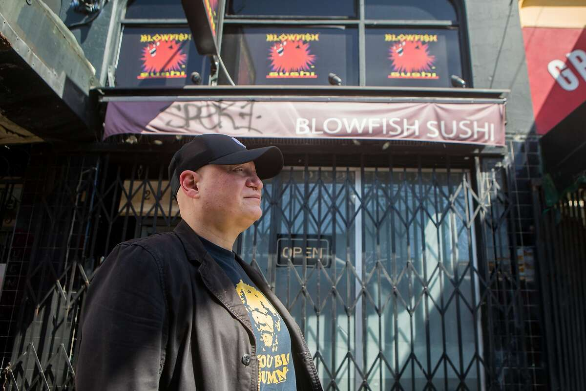 Jason Teplitsky stands outside of his restaurant, Blowfish Sushi to Die For, which permanently closed in December. Without Teplitsky's knowledge, a new restaurant took its place, also called Blowfish Sushi.