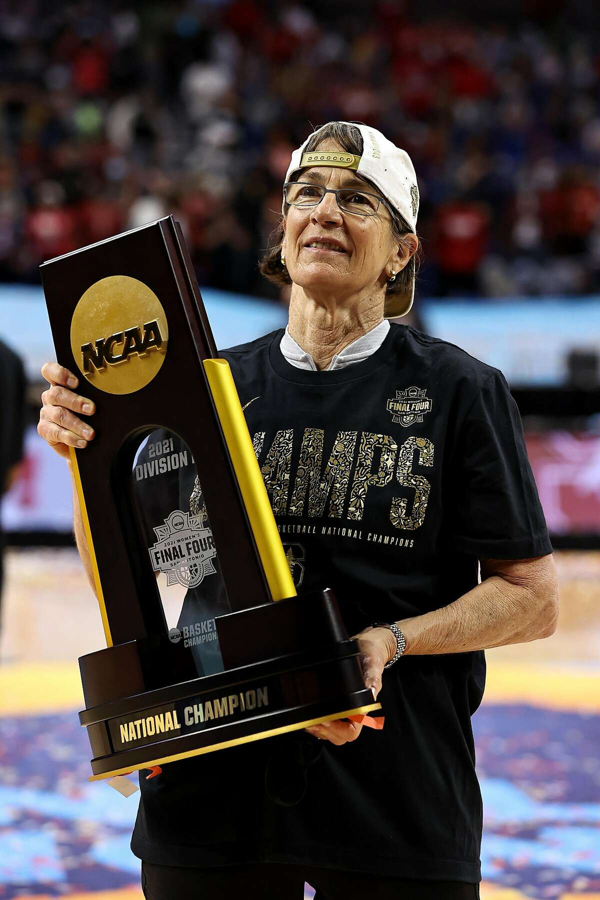 """Stanford's Tara VanDerveer won her third national title on Sunday night, but said of the NCAA's vastly different approach to the men's and women's games: """"This is purposeful and hurtful. I feel betrayed by the NCAA."""""""