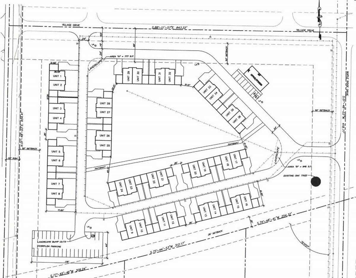 Manistee Village Apartments would be a 36-unit, multi-family apartment complex in Manistee Township. (Screenshot/site plan)