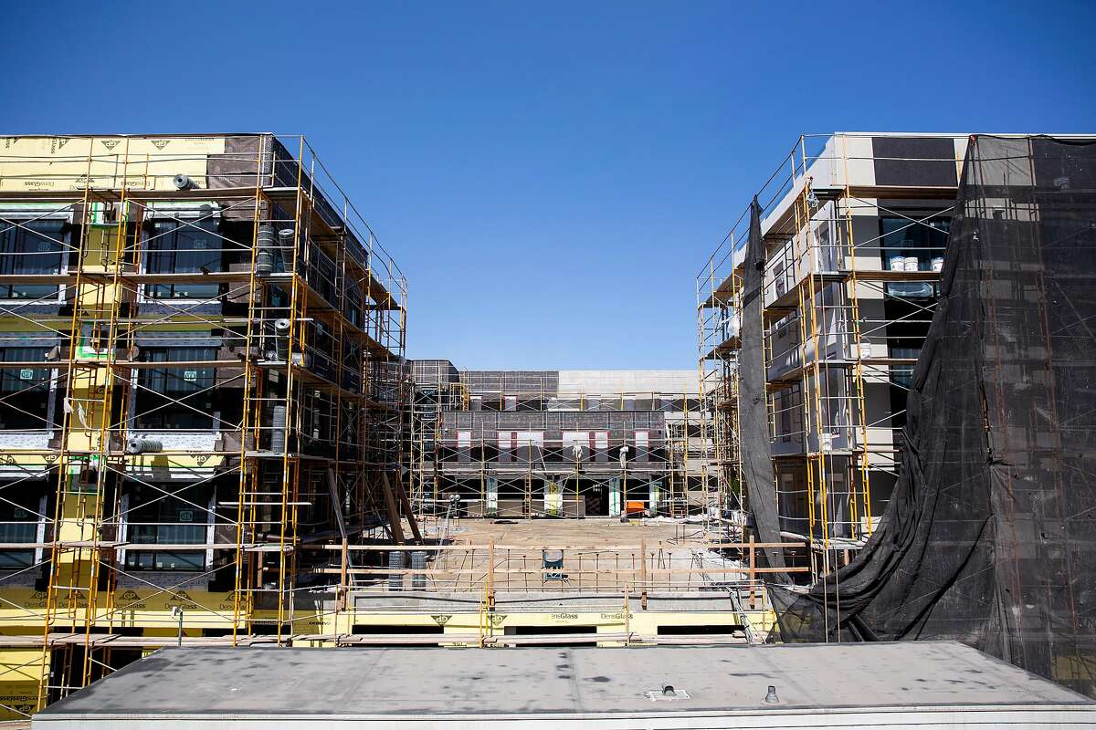 An affordable housing project for families is being built at Alameda Point in Alameda by Eden Housing.