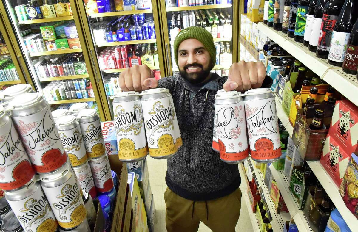 Ravi Patel, who created two beers for his Other Desi Beer Co., Dishoom!, a single IPA made and cashmere hops with the taste of melon, mango, and coconut and Jalebae double IPA made with New Zealand hops with the flavor of tangerine, citrus rind with a slight peppery nose, both made for him at Thimble Island Brewing Co. of Branford.