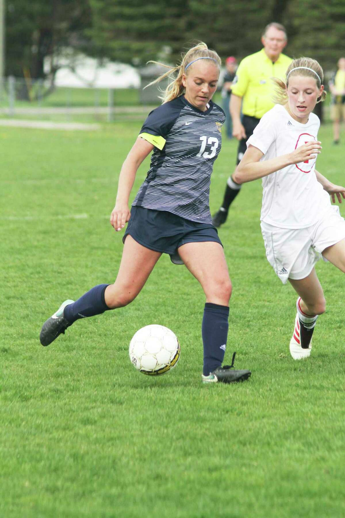 Manistee's Olivia Smith will return to the pitch this season for the Chippewas. (News Advocate file photo)