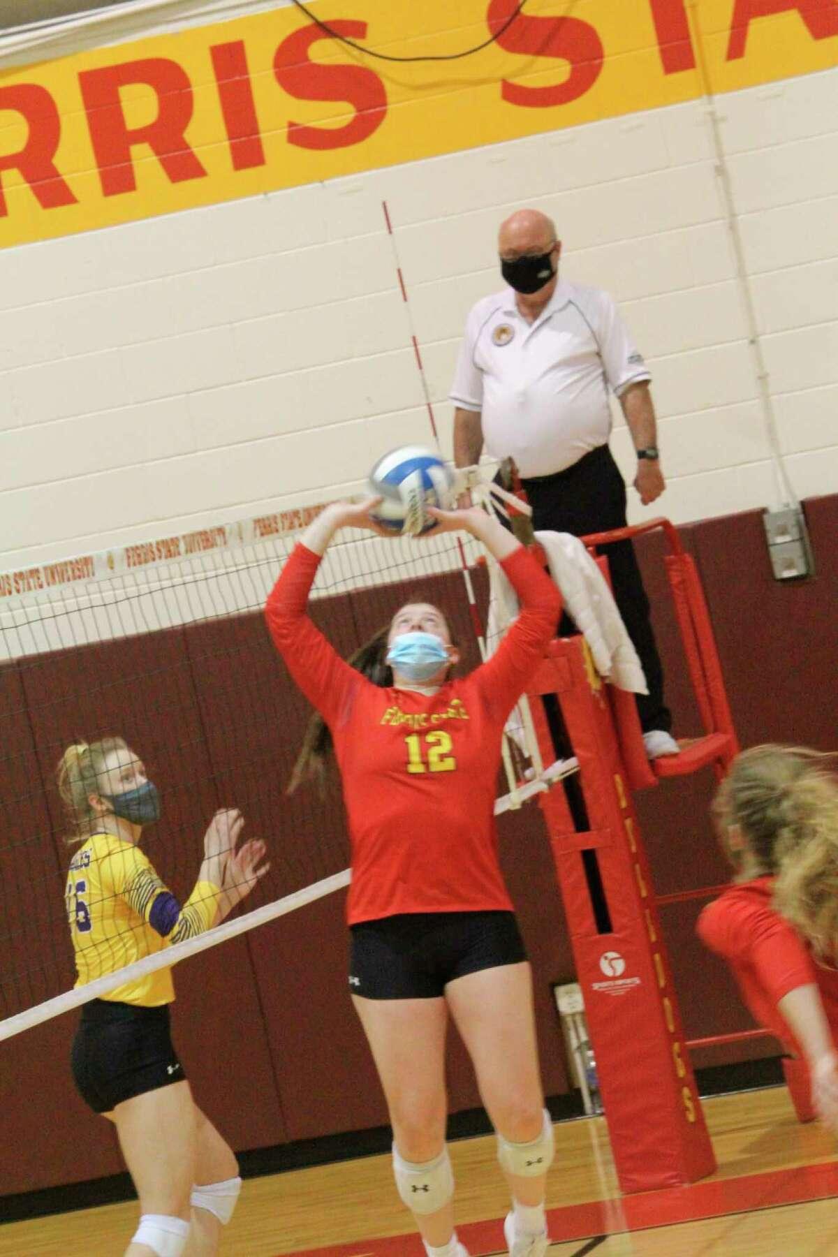 Ferris' volleyball team will be in the GLIAC tournament this weekend. (Pioneer photo/John Raffel)