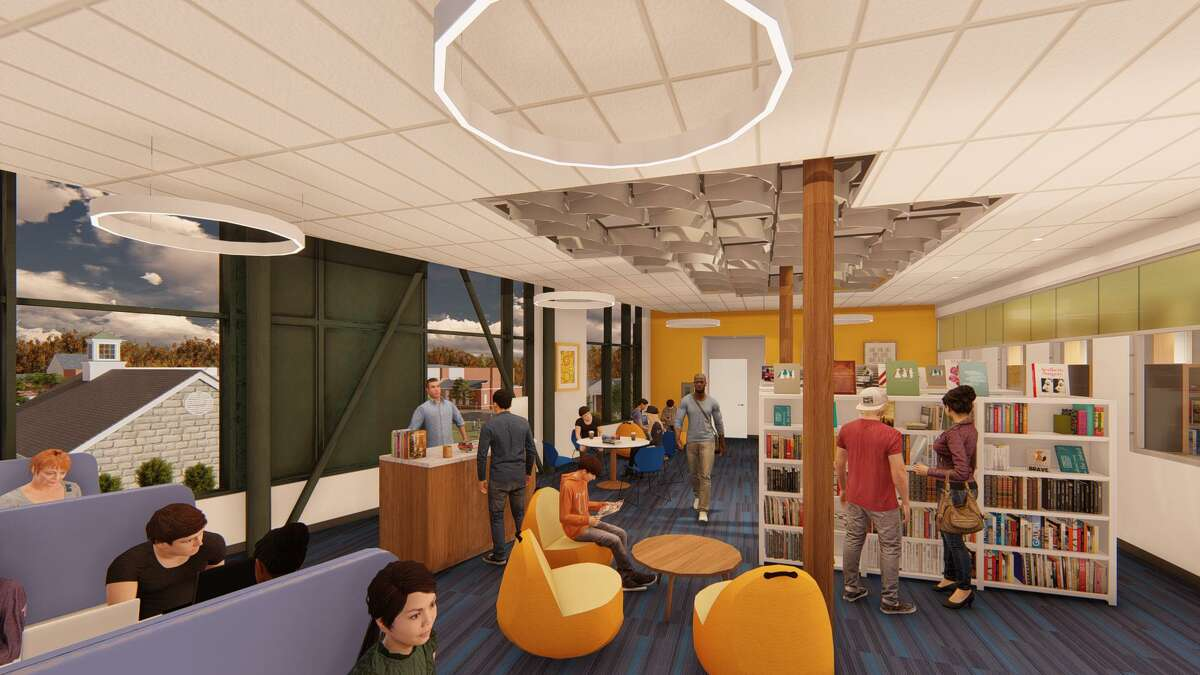 The teen library will include areas for co-working as part of plans for the new New Canaan Library.