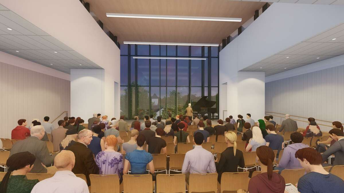 Plans for the new New Canaan Library have been shown throughout the year to members of the town.