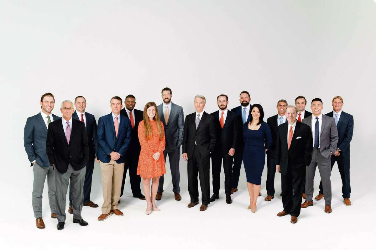 Commercial real estate firm JLL added a large tenant representation team including, from left, Paul Penland, Steve Hesse, Bentley Scott, Brandon Clarke, James Robertson, Kendall Hughes, Jeff Cairns, Sanford Criner, Mark Reilly, Graham Horton, Rachel Hinton, Matt Trozzo, Charles Gordon, Josh O'Rear, Harrison Yang and Ryan Roth. The team previously worked at CBRE.