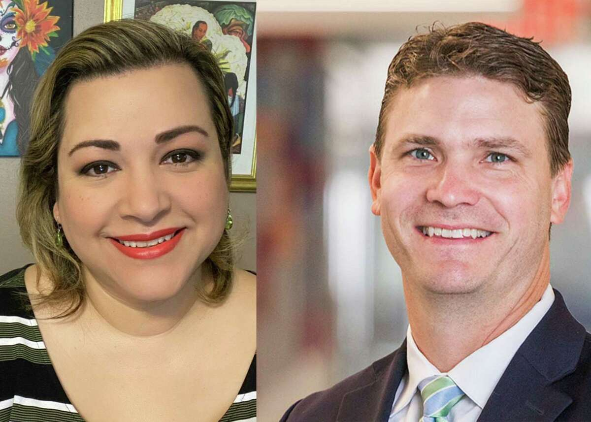 Two candidates, Chris Earnest (right) and Virginia Elizondo (left), are vying to fill Position 4.