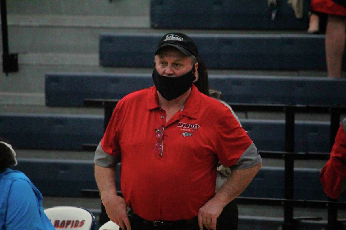 Roger Steig coached Reed City to a strong CSAA season. (Pioneer photo/John Raffel)