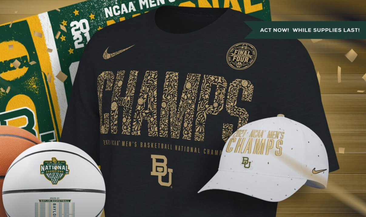 Get your Baylor gear before it's gone!