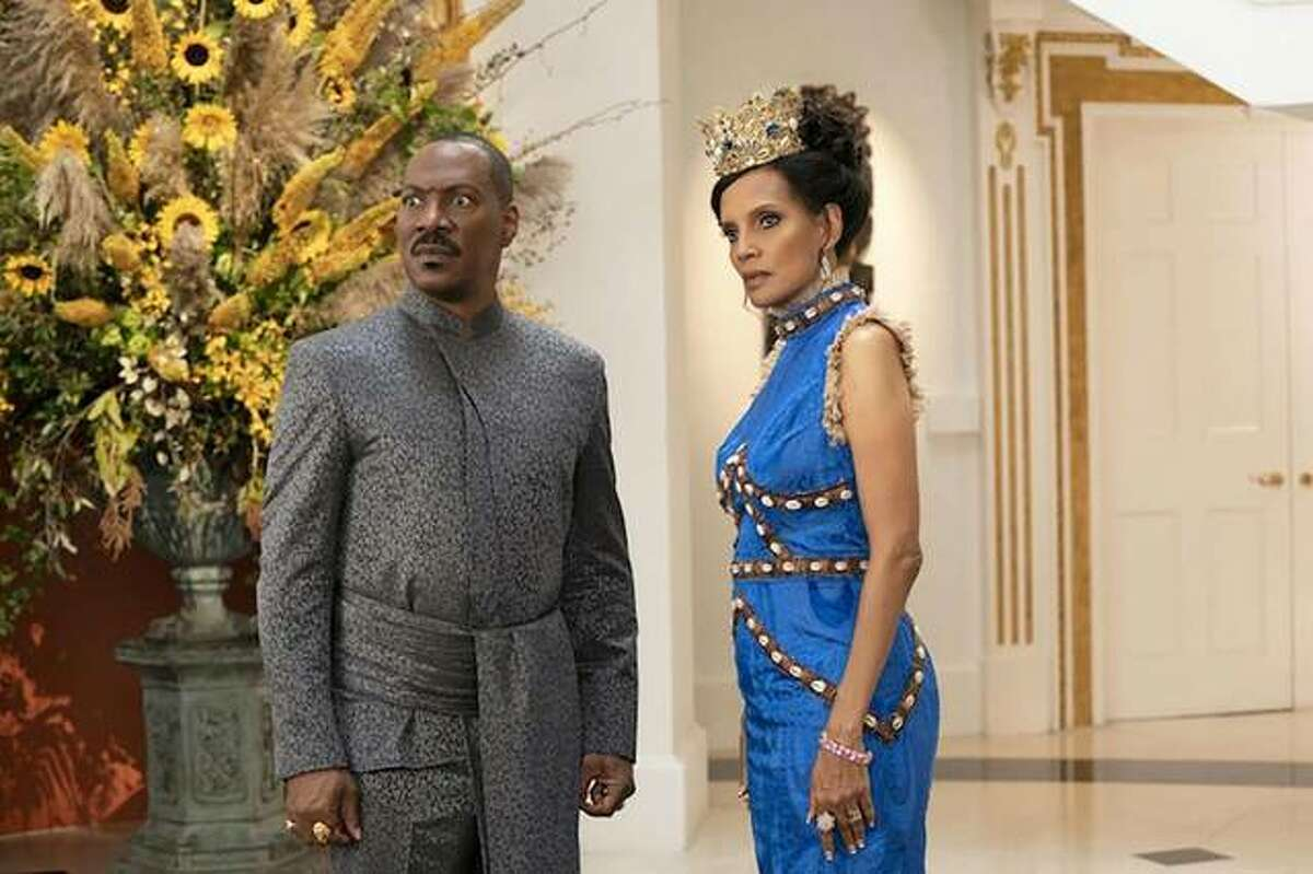 "Eddie Murphy and Shari Headley in ""Coming 2 America."""
