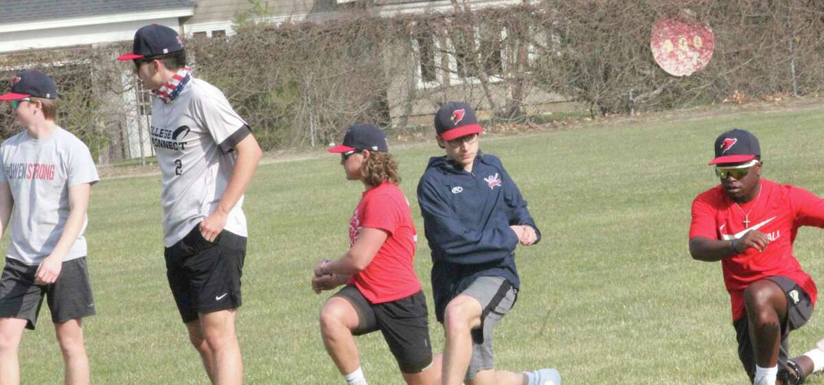 Big Rapids players work out during a practice on Monday at Win Kellum Field. (Pioneer file photo)