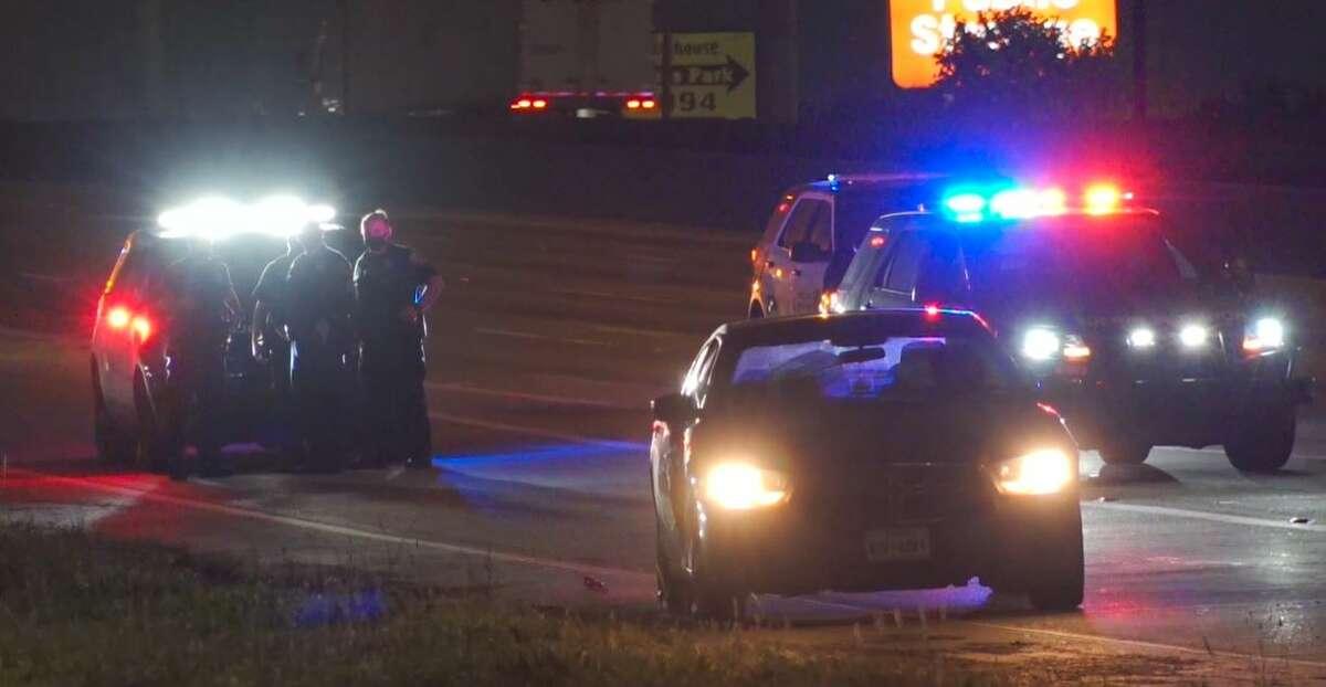 Police investigating a fatal auto vs. pedestrian crash near 8500 North Freeway.