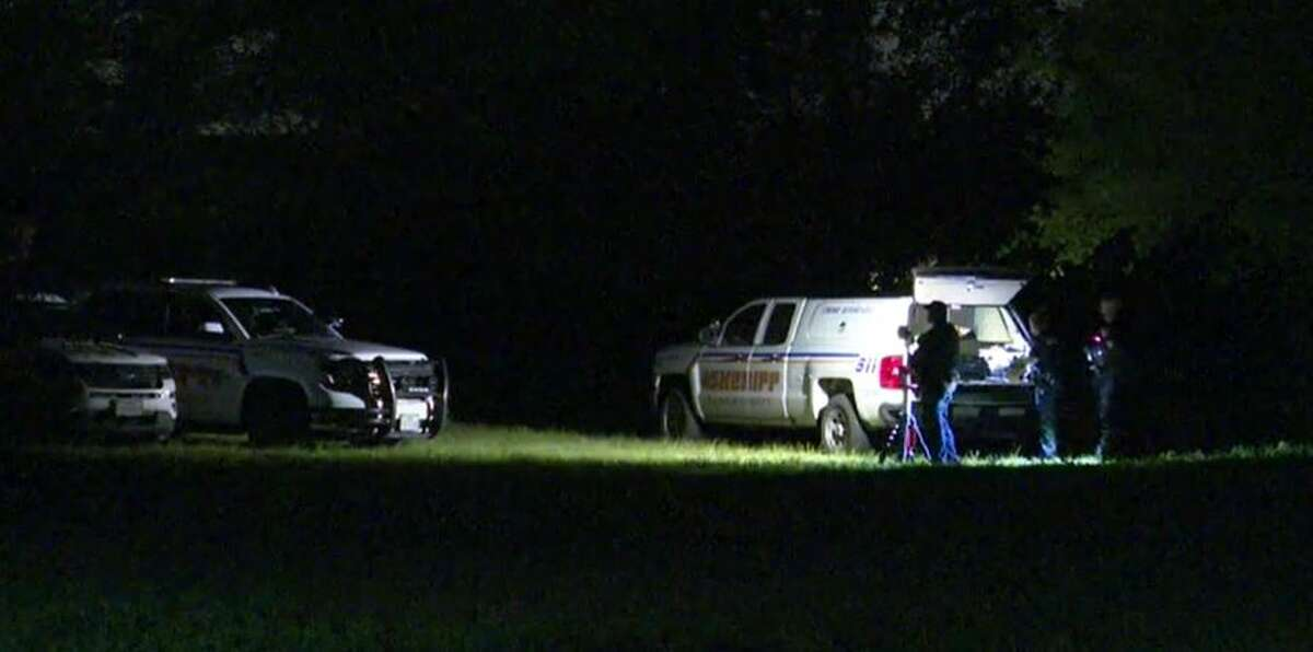 Harris County Sheriff's Office deputies investigating a body found dumped near a church.