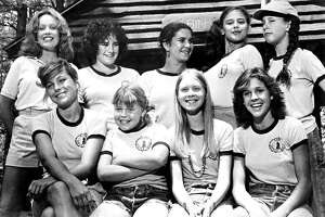 """Long before she starred in """"Sex and the City"""" (or ran for New York State governor against Andrew Cuomo), Cynthia Nixon, second from right, bottom row, made her movie debut in 1980's """"Little Darlings,"""" about teenage girls at summer camp trying to be first to lose their virginity. The film starred Kristy McNichol, far right, bottom row, and all the way to the left, Tatum O'Neal (the youngest female Oscar winner ever for """"Paper Moon"""")."""
