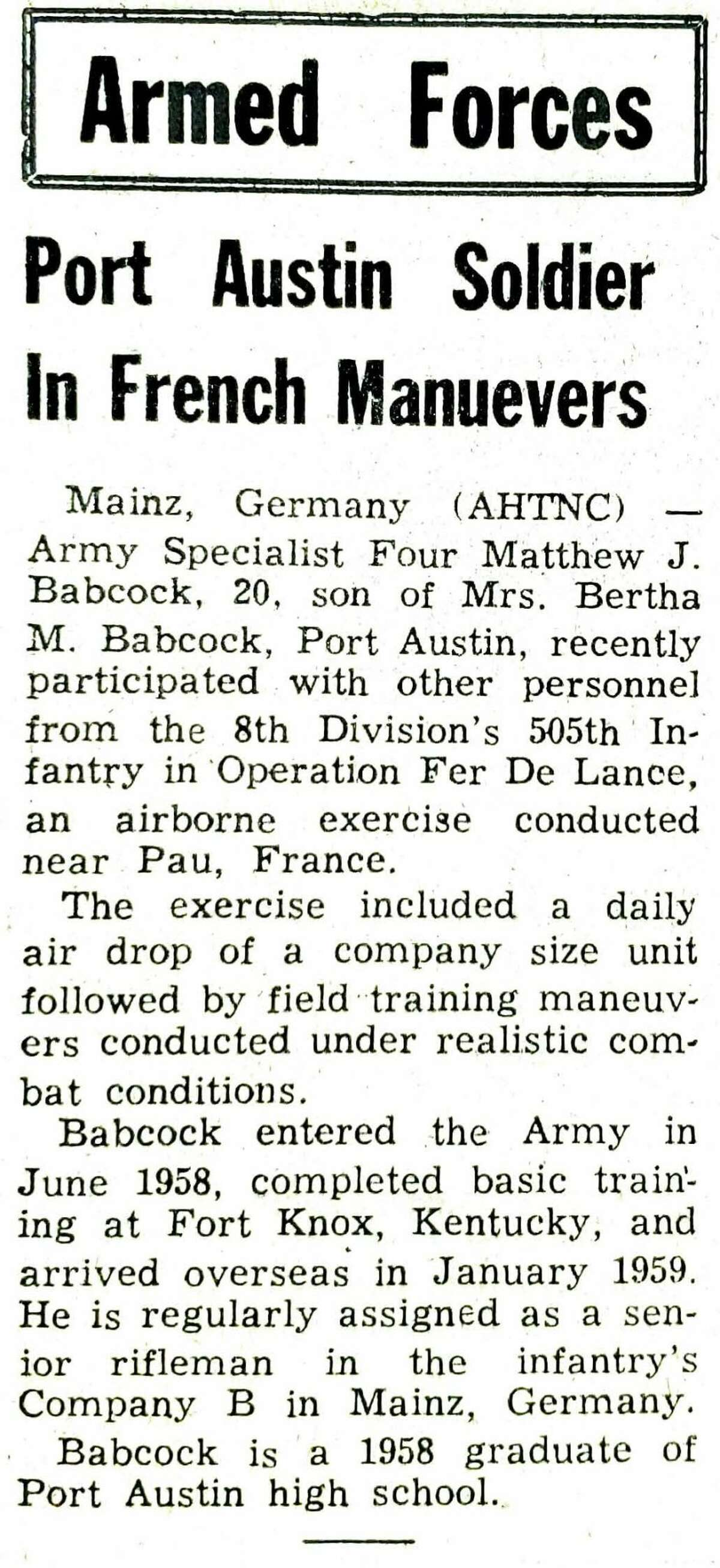 Military news was a mainstay on the front page of the Tribune over the decades, with regular updates on the achievements and happenings of our local soldiers.