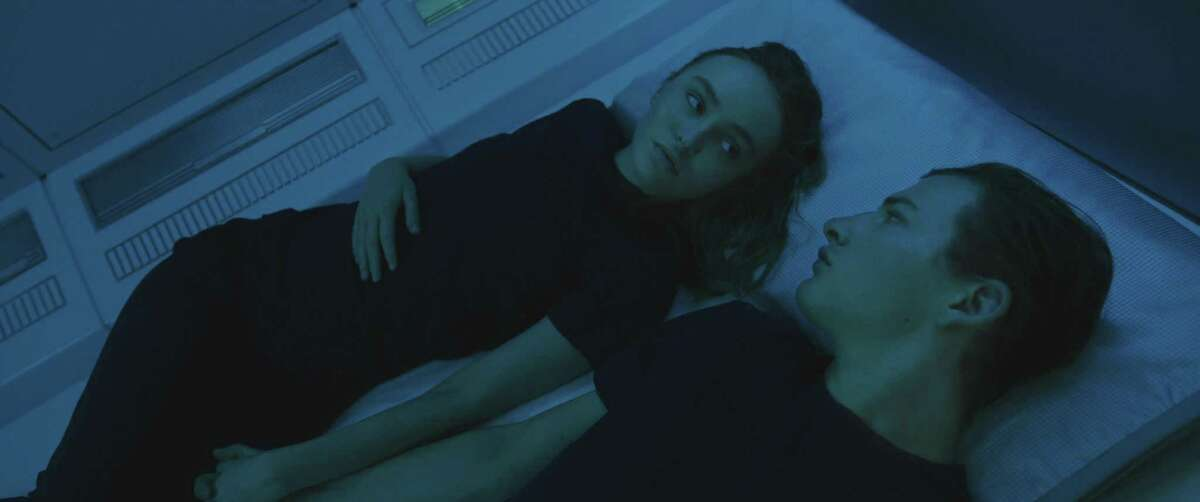 Lily-Rose Depp and Tye Sheridan in 'Voyagers'