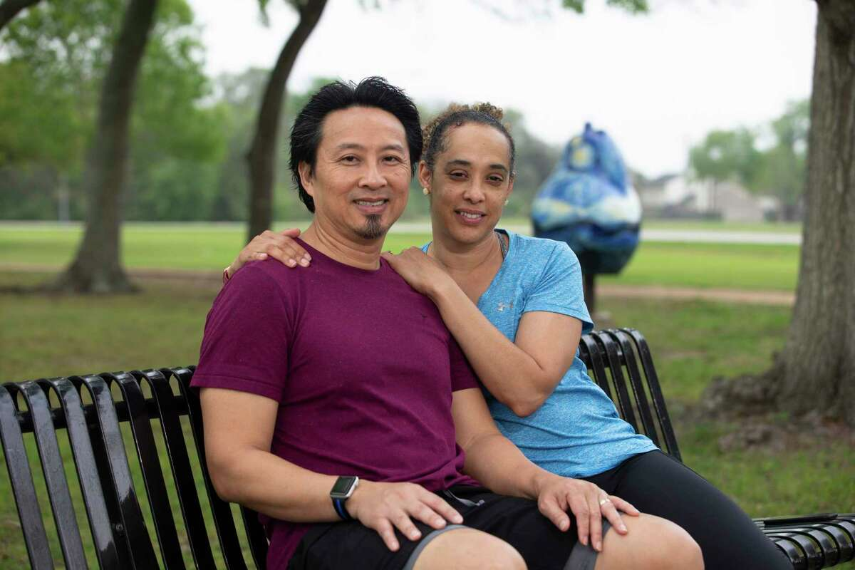 Quan and Ganesa Collins continue to exercise at the park in Pearland when he suffered a heart attack. Her CPR training helped save his life.