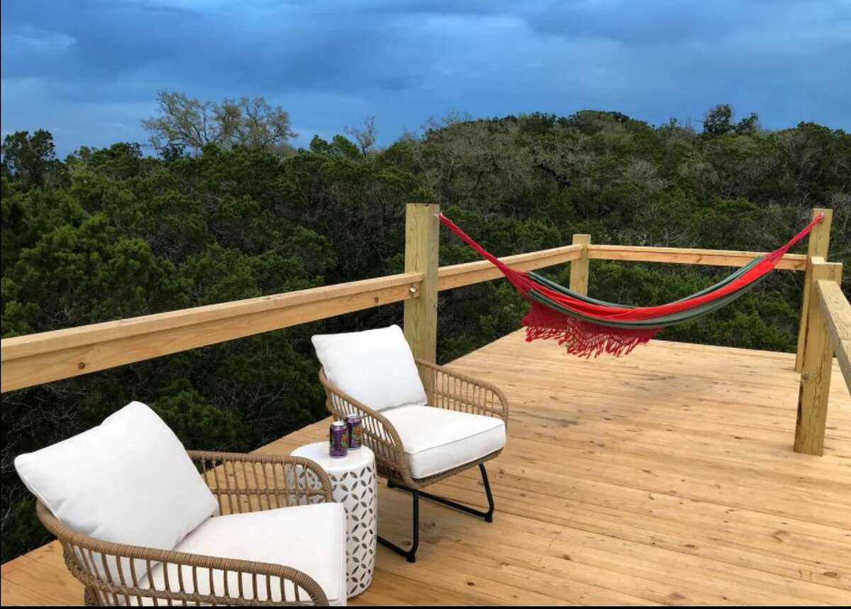 What this Texas yurt experience offers guests is more of the private resort setting to just unplug,