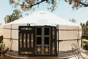 "Taking the Airbnb Texas spotlight is ""Yurtopia"" featuring three cozy yurt sites, including the Sasha Ger, Lena Ger and Becca Ger."