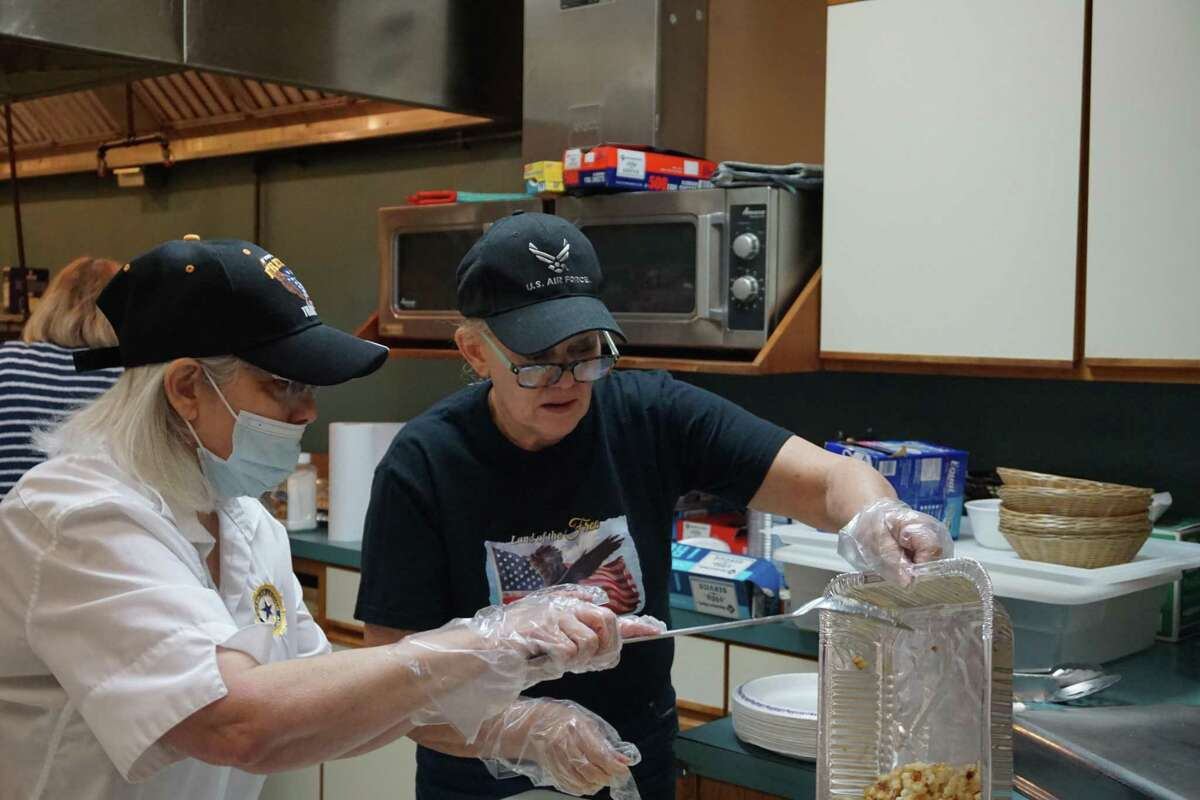 Breakfast with Our Veterans on Saturday, April 3, at the Katy Elks Lodge 2628 in Katy served around 90 meals to veterans and community members. The monthly event had not been held since March 2020 due to the pandemic.