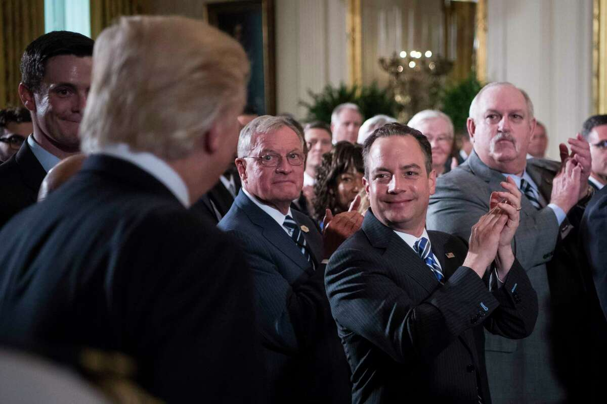 Former White House chief of staff Reince Priebus has been giving paid speeches and spending more time with his fish.