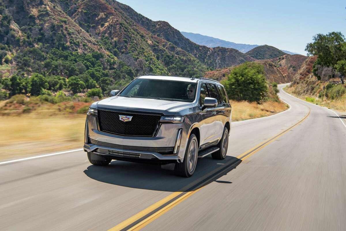 The 2021 Cadillac Escalade has a 14 mpg city, 19 mpg highway fuel economy.
