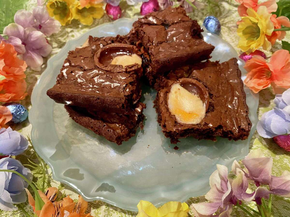 Cadbury Cream Brownies are a fun and easy way to use up any lingering Easter candy.
