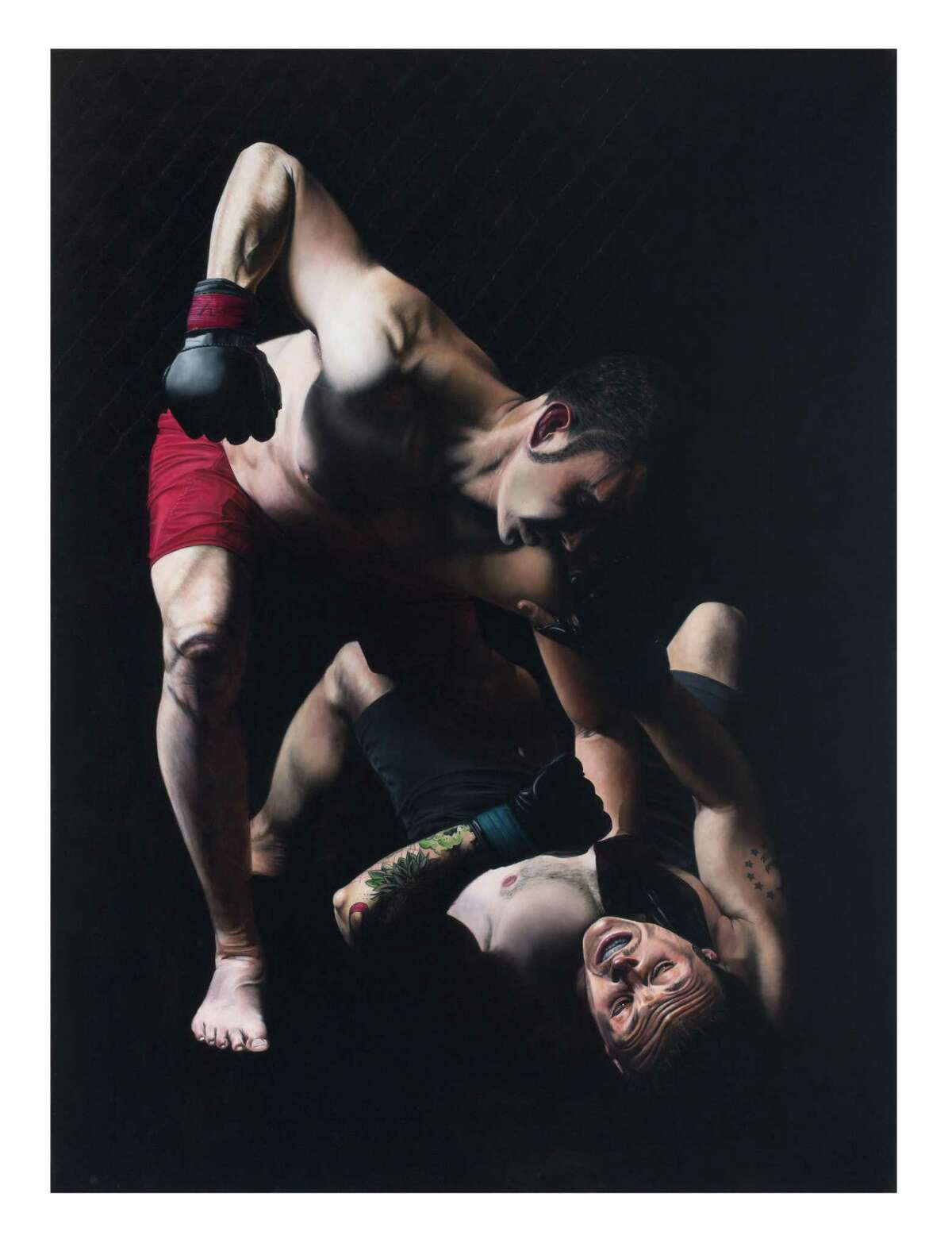 """Russell Ritell references Caravaggio's work in his painting """"Victorious."""""""