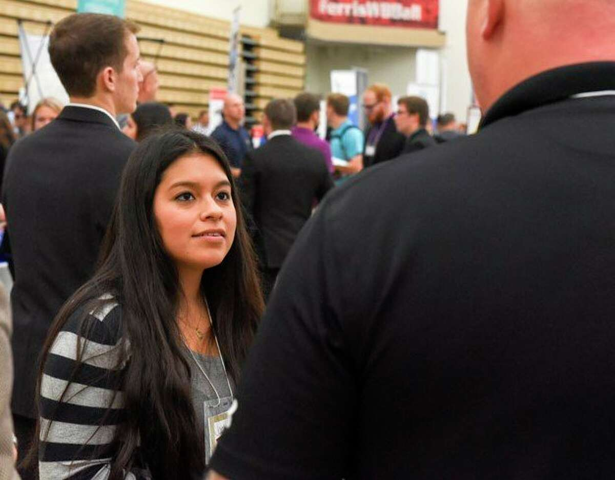 More than four dozen businesses, nonprofit groups and government agencies and organizations will have representatives seeking prospects at Ferris State University's Career and Internship Fair Wednesday, April 7 and Thursday, April 8. This event takes place for students and alumni via Easy Virtual Fair. (Courtesy photo)