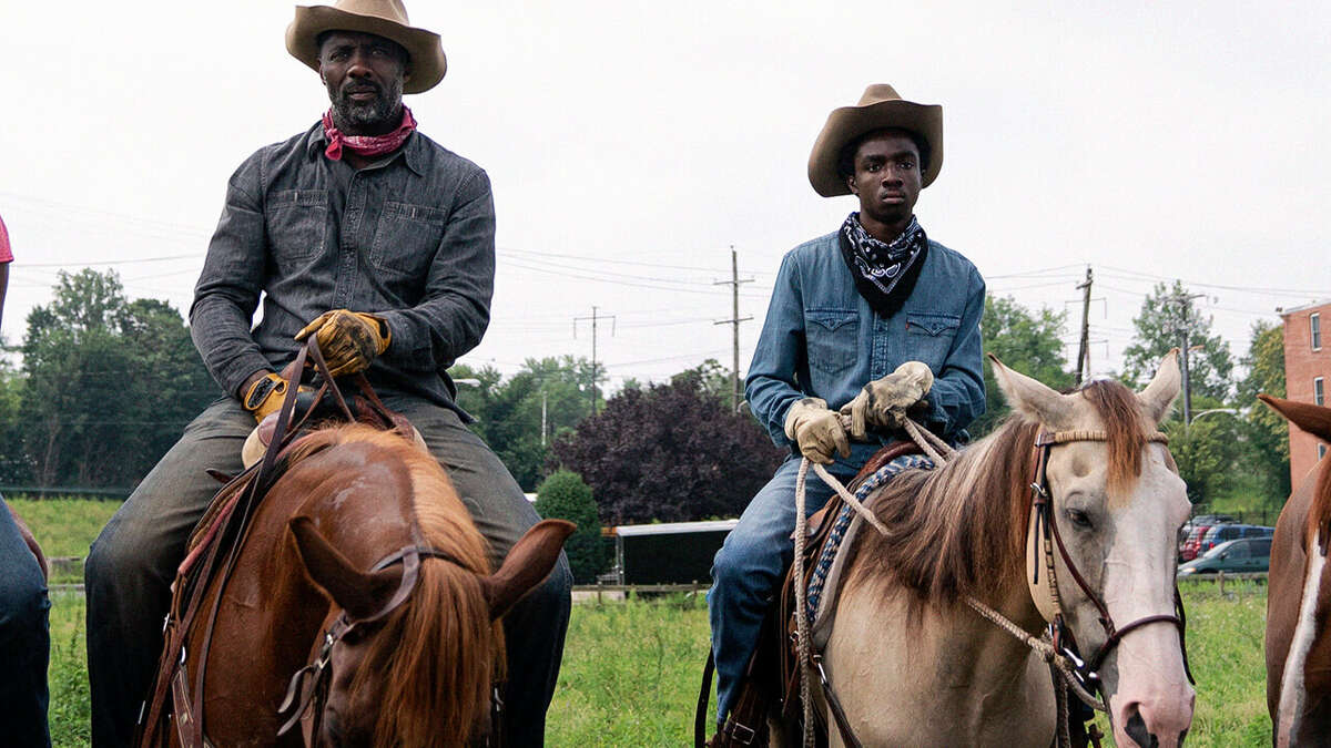 Idris Elba and Caleb McLaughlin in Netfliex's 'Concrete Cowboy.'