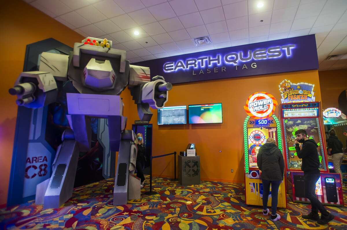 The Earth Quest laser tag arena is located at Valley Lanes Entertainment Center in Midland. (Katy Kildee/kkildee@mdn.net)